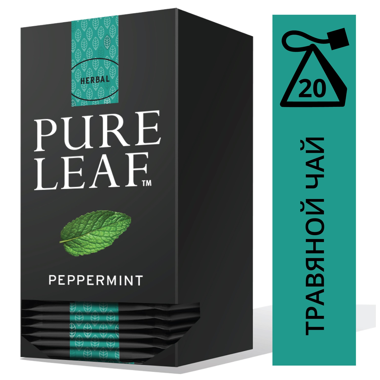 PURE LEAF травяной напиток в пакетиках Peppermint (20шт) - Крупнолистовой чай