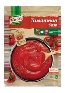 KNORR Томатная база Сухая смесь (300г) - Сухой продукт: красно-оранжевый сыпучий порошок с кусочками томатных хлопьев томатного соуса.