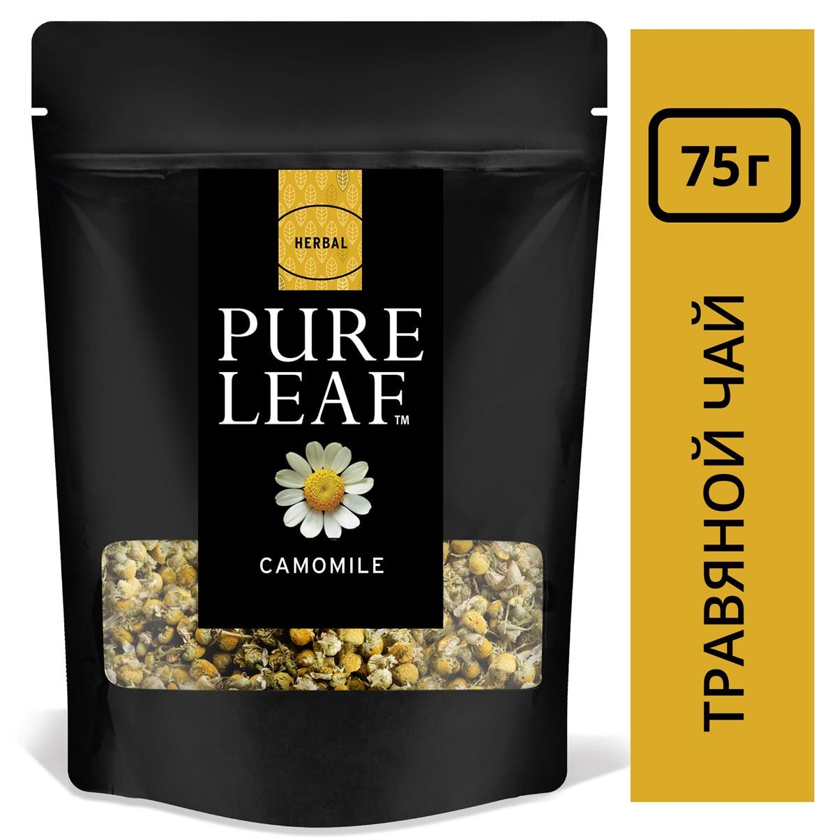 PURE LEAF травяной напиток Camomile (75г) - Крупнолистовой чай