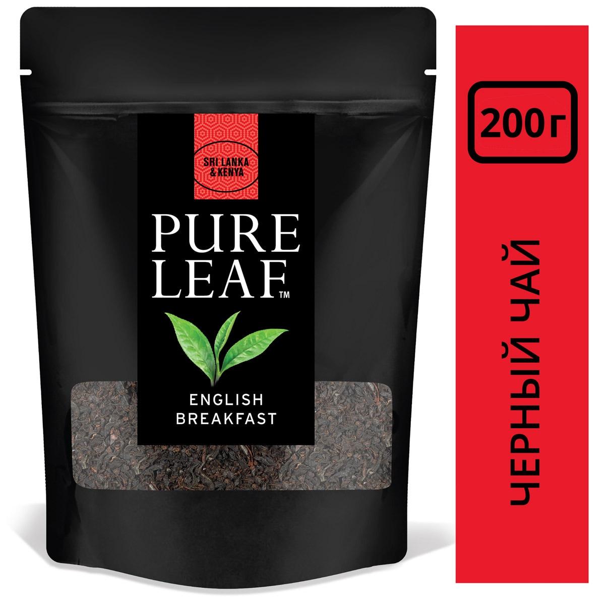PURE LEAF черный чай листовой English Breakfast (200г) - Крупнолистовой чай