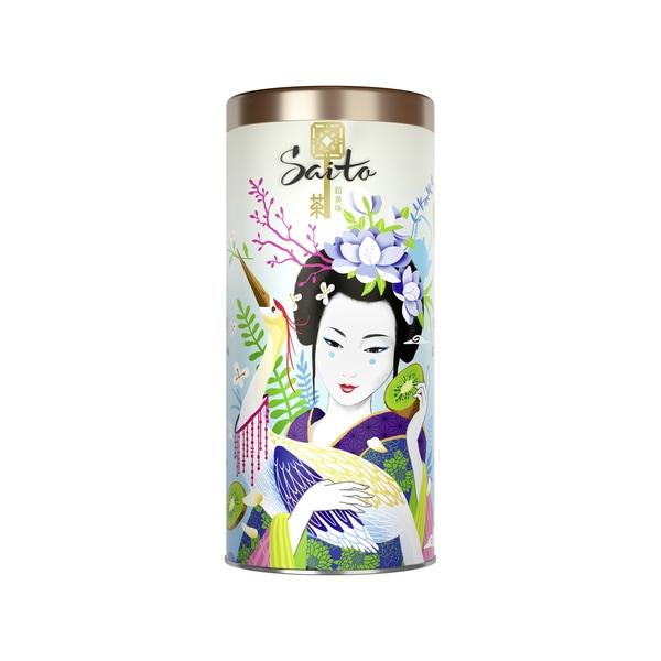 Saito чай зелёный листовой с лепестками жасмина и кусочками киви - Saito чай зелёный листовой с лепестками жасмина и кусочками киви 80 гр